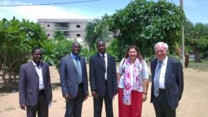 La mission reçue au Centre national d'appui à la recherche à N'Djamena (Tchad), le 5 septembre 2013