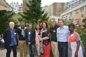 Avec quelques écologistes lors de l'AG du 31 août