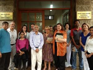 La mission reçue à la Cellule franco-indienne de recherche en science de l'eau (CEFIRSE) à Bangalore (Inde) le 17 juillet 2013