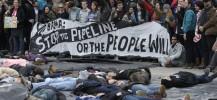 Manifestation contre l'oléoduc Keystone, le 2 mars à Washington. | AP/Susan Walsh